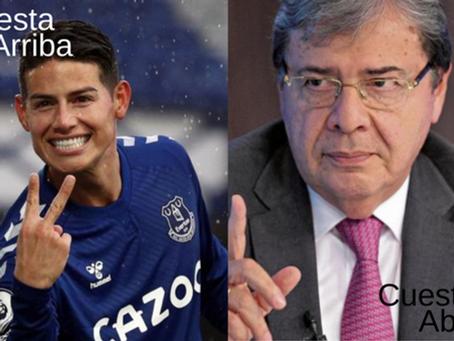 James Rodríguez, cuesta arriba; Carlos Holmes Trujillo, cuesta abajo
