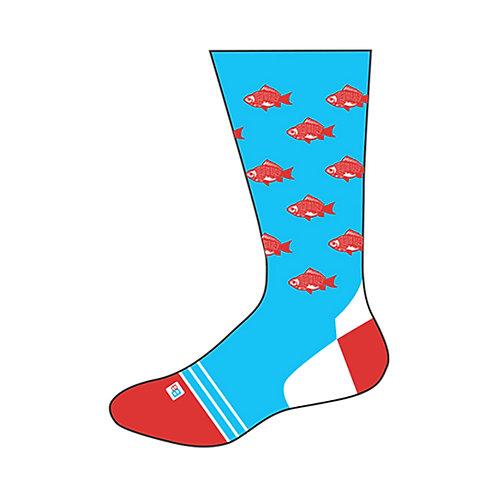 Adult Socks - Red Fish