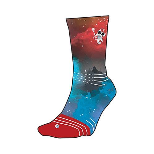 Youth Socks - Red Galaxy