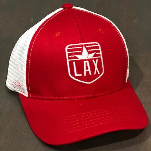 LAX Trucker Hat Red