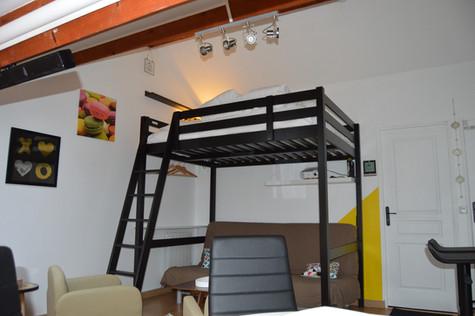2 couchages en mezzanine