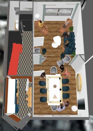 Projection salle à manger_salon + couloi