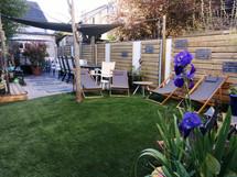 espace détente et salon de jardin