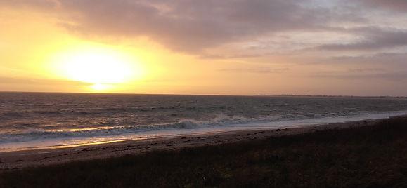 Magnifique coucher de soleil de janvier à Damgan