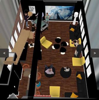 Espace _Mega Dreams_ au sous-sol, 50m²,
