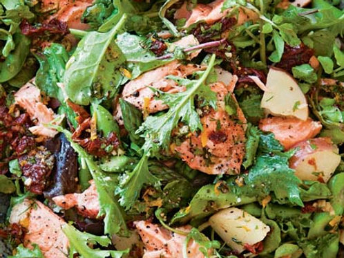 Spring Salad with Asparagus and Salmon