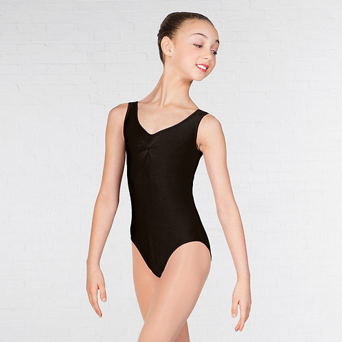 Sleeveless with ruched front leotard