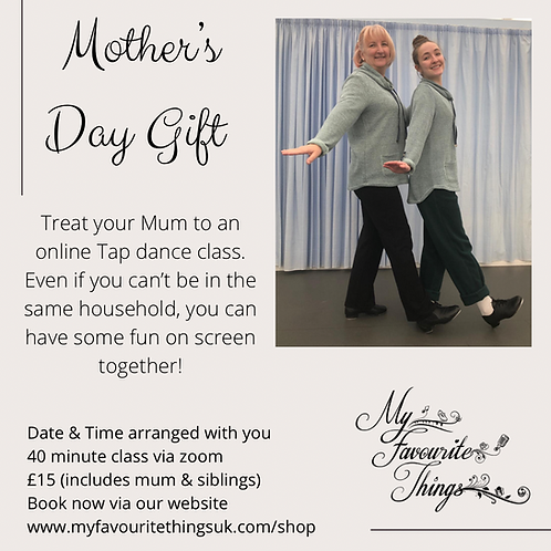 Mother's Day Online Tap Class