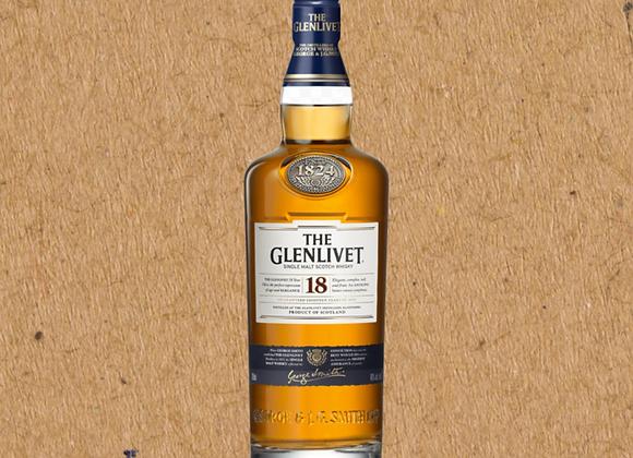 Glenlivet 18 Year / Speyside Single Malt Scotch Whiskey (MD)