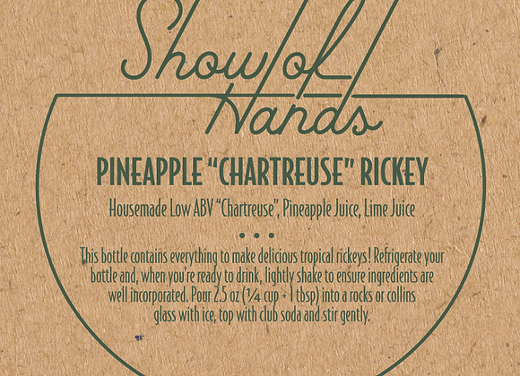 "Pineapple ""Chartreuse"" Rickey - 10 Ounce Bottle (Serves 4) (MD)"