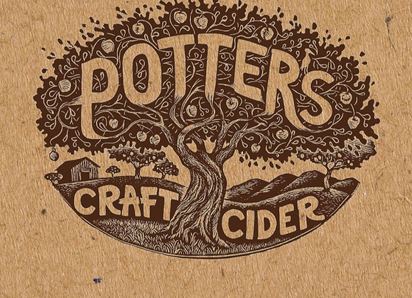 Potter's Cranberry Orange Blossom (Cider - 4 Pack x 12 oz.)