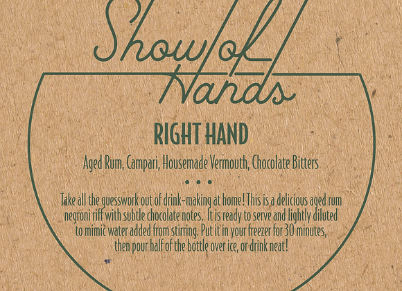 Right Hand - 10 Ounce Bottle (Serves 2)