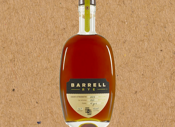 Barrel Batch 003 / Straight Rye (DC ONLY)