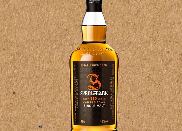 Springbank / 10 Year Single Malt Scotch Whiskey (DC ONLY)