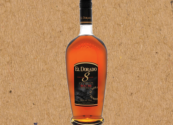 El Dorado 8 Year Old Rum / 8 Year Oak Barrel-Aged Rum (DC ONLY)