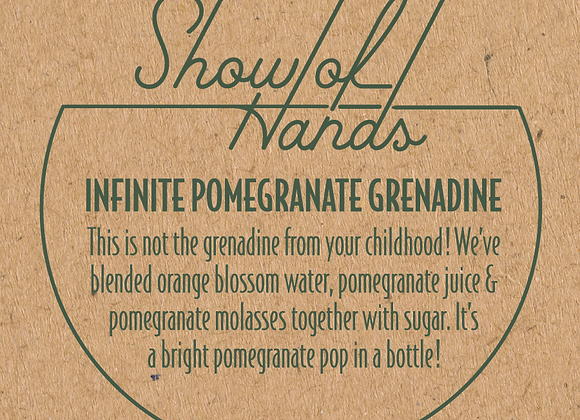 Mixers from Show of Hands: Pomegranate Grenadine