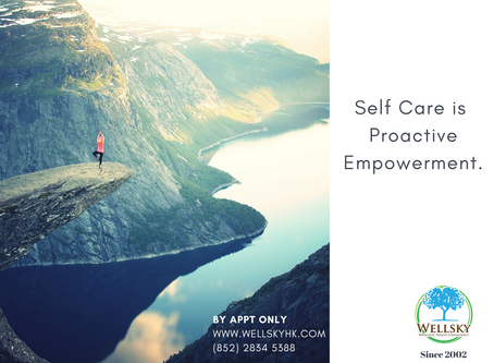Self Care is a proactive empowerment.