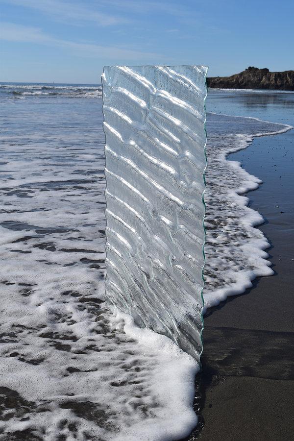 Kenyon Lewis Transparent Art Glass Panel