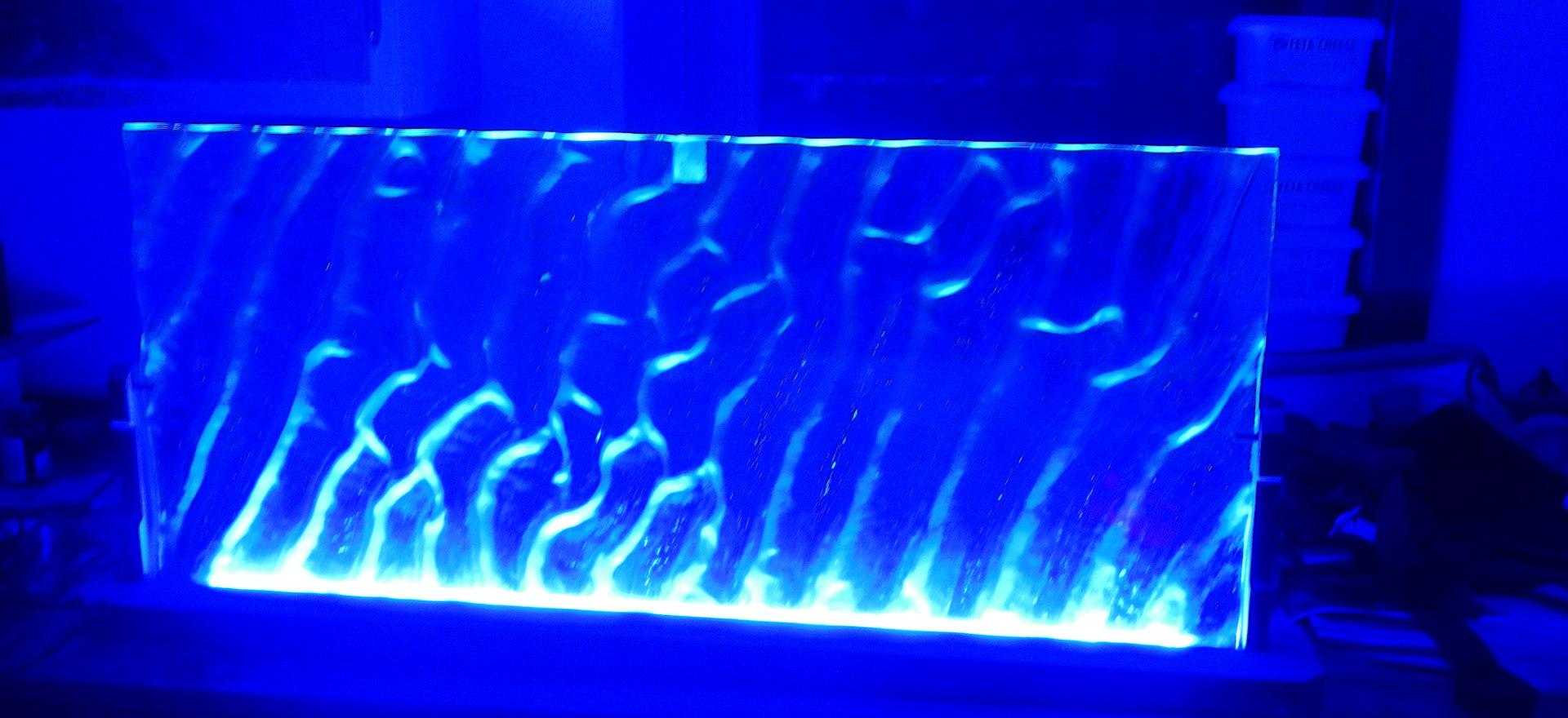 Free Standing Glass Panel (Night)