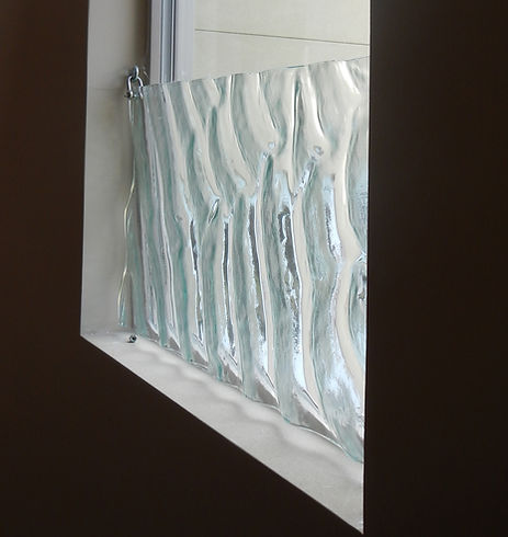 Kenyon Lewis Art Glass Privacy Panel in