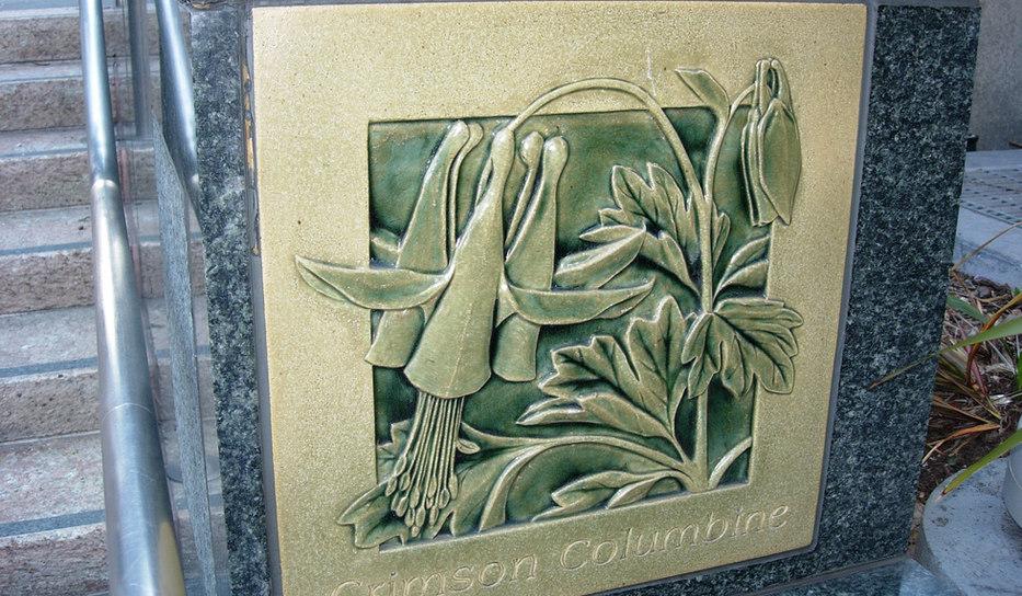 Union Square Art Tile - Columbine Detail