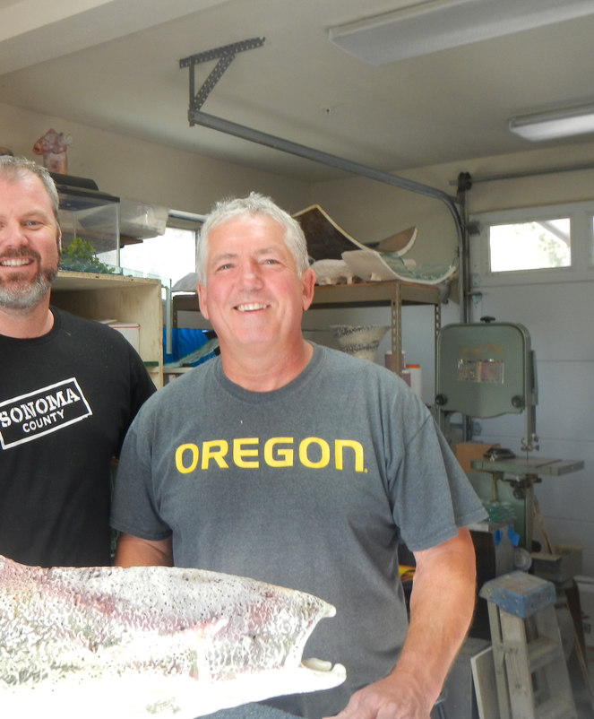 """Ceramic Fish"" Donation for Lake Sonoma Steelhead Festival"