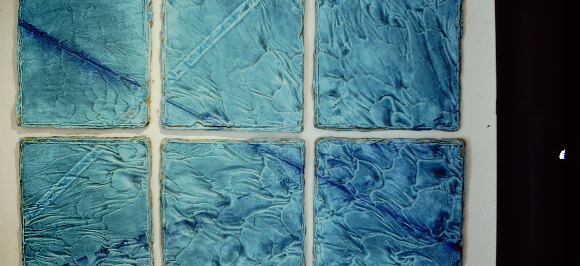"""Blue Tide"" - Ceramic Tile Wall Piece"
