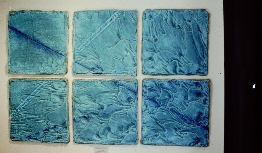 """Blue Tide"" - Ceramic Tile Wall Piece"