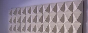 White Ceramic Pyramid wall piece by Keny