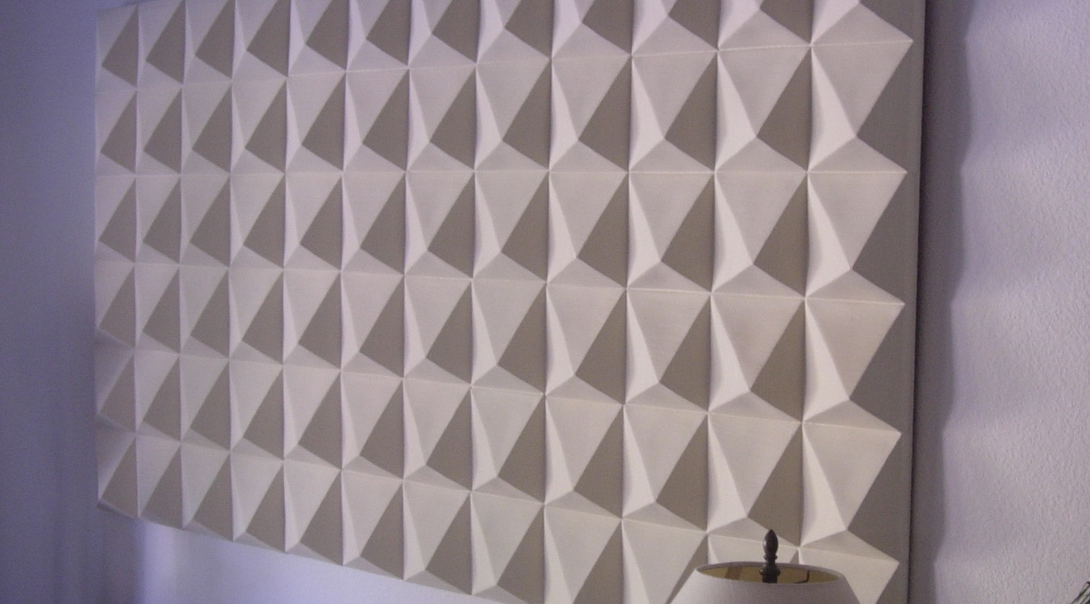 """White Ceramic Pyramids"" - 3D Wall Tiles"
