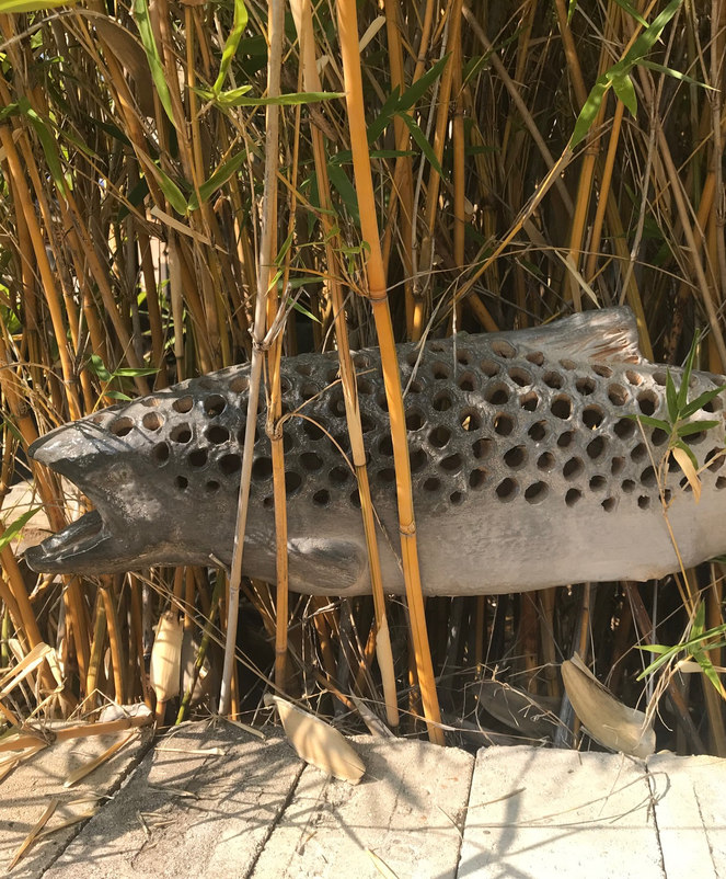 Ceramic Fish in Bamboo
