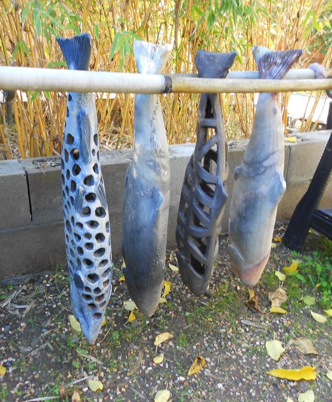 """Fish Camp"" - Variety of Ceramic Fish"