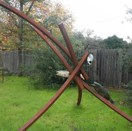 Kenyon Lewis Large Steel Sculpture  - Wa