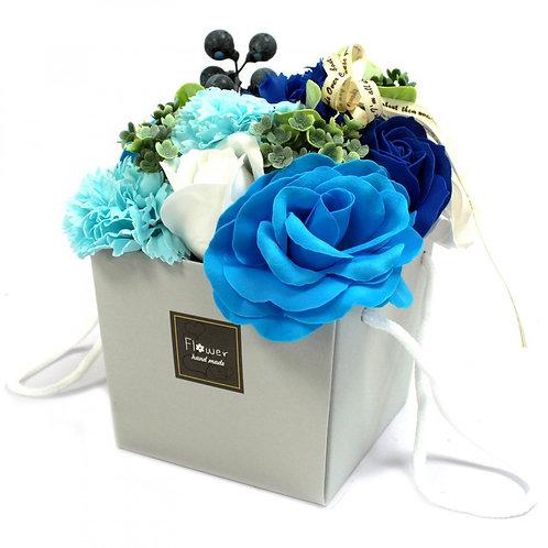 Bouquet de fleurs de savon - Mariage bleu