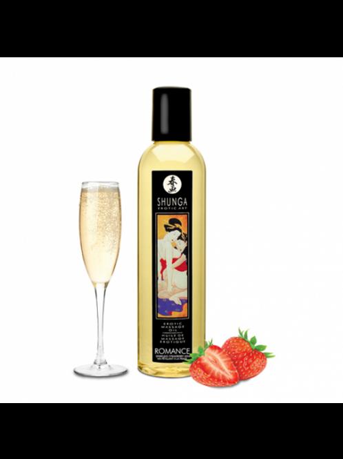 Huile de massage érotique - Romance - Vin pétillant fraise
