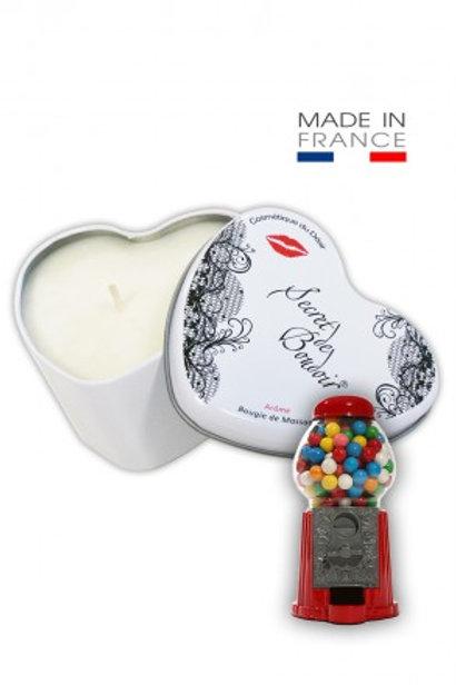 """Bougie de Massage Gourmande """"Bubble Gum"""""""