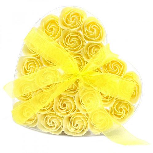 Coffret de 24 boîtes de fleurs de savon