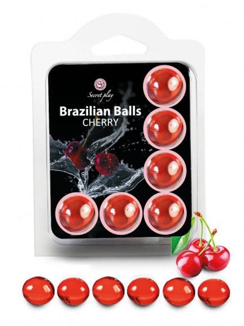 "6 Brazilian Balls ""Cerise"" 3386-6"