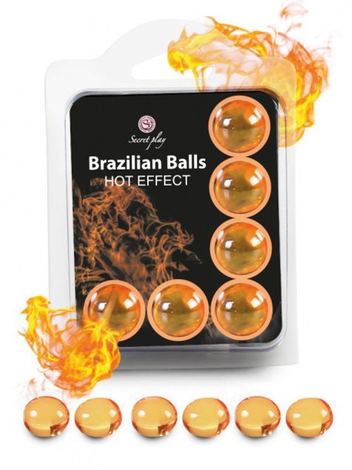"6 Brazilian Balls ""Hot Effect"" 3575-1"