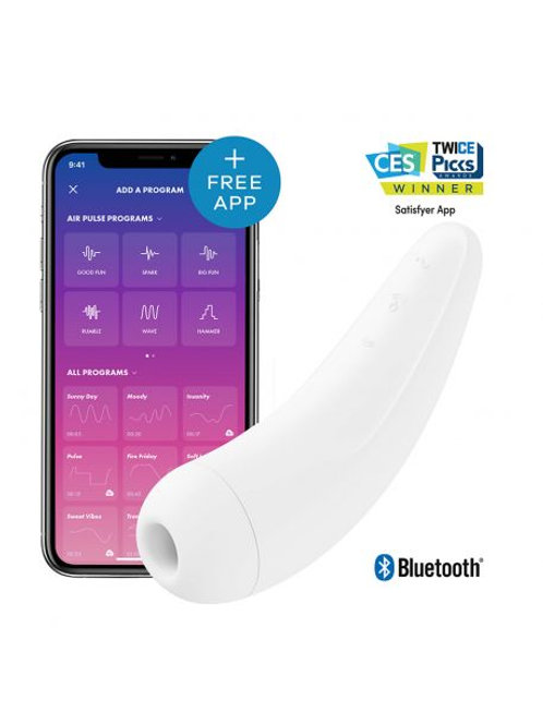 Stimulateur connecté Satisfyer Curvy 2+ - Blanc