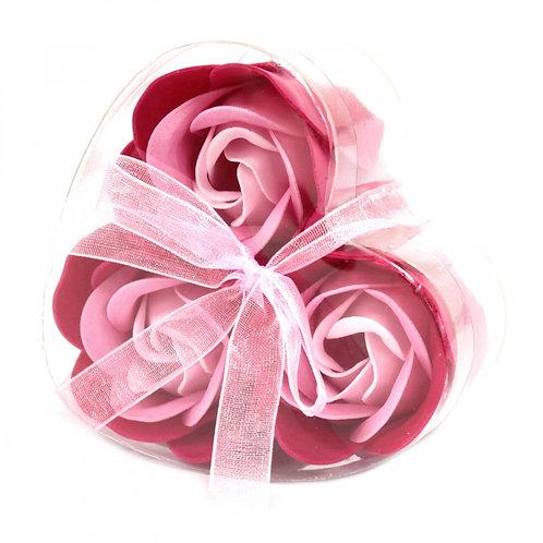 Coffret de 3  fleurs de savon