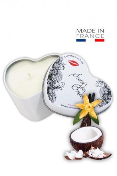 "Bougie de Massage Gourmande ""Coco-Vanille"""