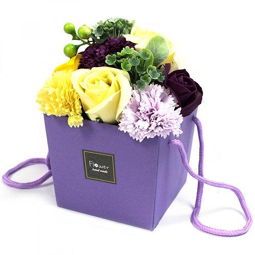 Bouquet de fleurs de savon - Purple Flower Garden