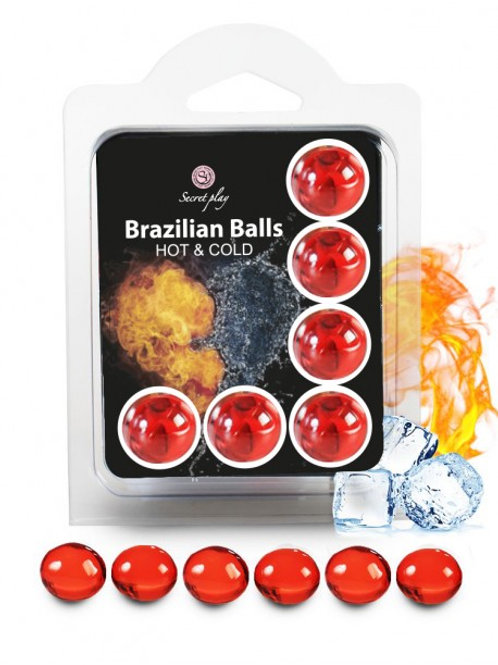 """6 Brazilian Balls """"Cold Hot effect"""" 3629-1"""