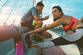 Stretching Before Marathon