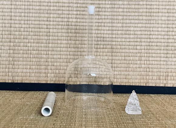 Bol de cristal 13 cm avec manche note Sol + housse