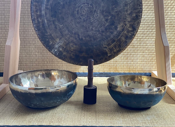 Offre Set Ancrage Bol Chantant Tibétain Ishana Black/Gold
