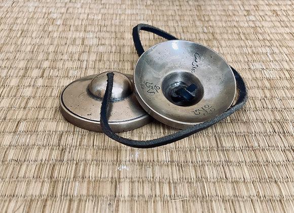 Les Tingsha ou Cymbales. Lisses et vierges de 6,7 cm
