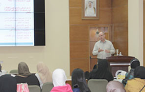 الدكتور روب فيدلر يحاضر في مركز تقويم وتعليم الطفل