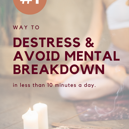 The number one thing you can do for 10 minutes a day to relax and avoid mental burnout